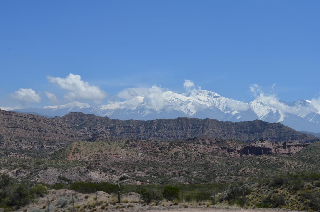 Foto: Marly Osuna. Vista de los Andes. Luján de Cuyo- Mendoza